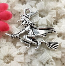 24 pieces Antique silver witch charms 30x37mm H4904 Free Ship