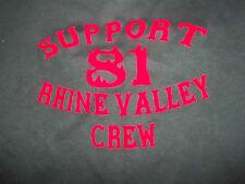 Support 81 T-Shirt Gr. L M big Red&White machine Angels support81 MC Rocker
