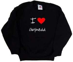 I Love Heart Gwynedd Kids Sweatshirt