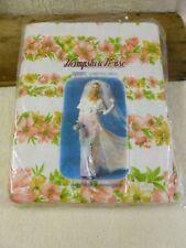 Vtg Hampshire House Single Bed Pink Florals Flannelette Sheets & P/Cases-160x254