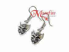 X-MEN WOLVERINE MASK 3D EARRINGS LOGAN COOL AWESOME MEAN CLAWS SILVER-PLATED