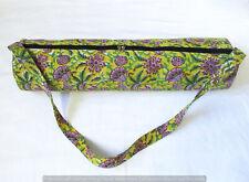 Indian Cotton Yoga Tote Bag Adjustable Strap Hand Block Shoulder Exercise Carry