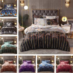Luxurious Diamond Duvet Cover Bedding Set Geometric Duvet Cover Set All Size New
