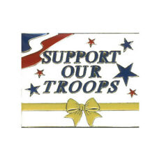 Wholesale Lot of 12 Support Our Troops Lapel Hat Pins Tie Tac Fast Usa Ship