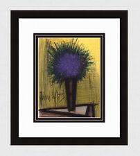 50% SALE 1967 BUFFET ORIGINAL Color Lithograph PURPLE BOUQUET Framed SIGNED COA