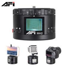 360° AFI MA2 Aluminum Mini LED Electronic Panorama Head for Camera Gopro Xiaomi