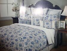 New Austin Horn Classics Sakari Blue 4 Piece Queen Comforter Set