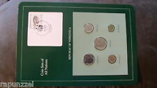 Coin Sets of All Nations Venezuela  w/ card all 1989 UNC Tortuga Tortoise stamp