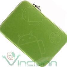Funda logo ANDROID verde neopreno pr Samsung Galaxy TAB 10.1 P7500 P7510 CNV9