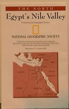 1995 National Geographic Map of Egypt's Nile Valley