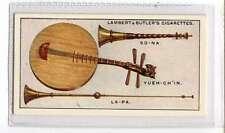 (Jl857-100)Lambert & Butler,Interesting Musical Instruments,Yueh-Ch ,1929 #20