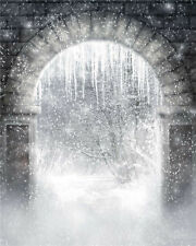 Photo Backdrops Children Winter Snow Photography Background Photo Vinyl 5x7FT