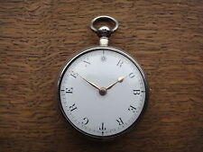 1828 large Verge Pocket Watch with Rare personal dial