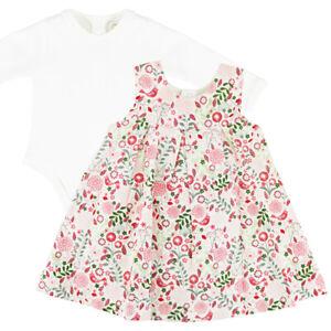 Emile Et Rose Girls Bodysuit, Pinafore & Tights - Floral - (BNWT) ER8338