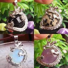 Dragon Wrap Ball Bead Jasper Gemstone Quartz Charm Pendant For Necklace DIY