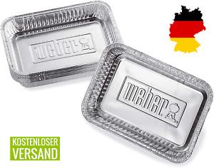 Weber 6415 Alu-Tropfschalen Grillschalen, klein, 12,7 x 3,6 x 19 cm (10 Stück)