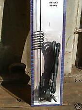 MOLLA NERO PER AUTO Universale Antenna 16 in (ca. 40.64 cm) 40 cm Antenna Nuovo di Zecca