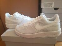 NEW Nike Air Force 1 Flyknit 2.0 White Pure Platinum Mens Comfort AF1 AV3042-100