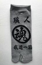 Nagomi Japanese Shokunin Craftsman Artisan Split Toe Tabi Socks, Grey