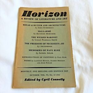 Horizon. Review of Literature and Art, Cyril Connolly [Ed] x SIX from the 1940s