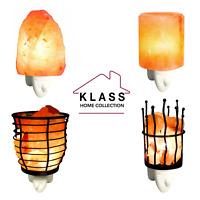 Mini Hand Carved Natural Crystal Himalayan Salt Lamp Night Light Wall Plug Gift