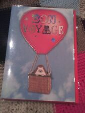 Bon Voyage greetings card - cute