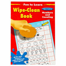 Fun To Learn Wipe Clean Book Numbers & Counting - Children Educational Book