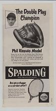 "Vintage Baseball Glove Ad -  Phil ""Scooter"" Rizzuto Spalding 1147"
