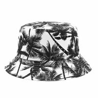 1X(Sombrero de Pescador de Lona Unisex Impreso ÁRbol de Coco Gorra de Doble MIJ