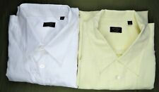 Lot 2 Francesco Smalto Casual Mens Dress Shirt 2XL XXL Cotton/Linen Designer EUC