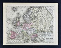 1876 Mitchell Map - Europe - Spain Germany Italy France Austria Sweden Greece