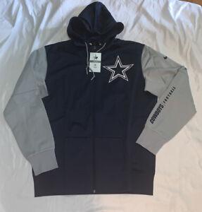 Men's Dallas Cowboys Nike Fan Gear Mascot Full-Zip Hoodie Jacket NWT Large