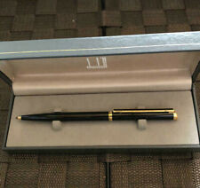 Authentic Dunhill Ballpoint Classic Gemline Black Gold Trim with Case