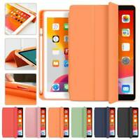 """For iPad 6th Gen 9.7"""" 2018 Magnetic Leather Smart Cover Case with Pencil Holder"""