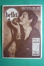 BELLA 16/1952 MODA COVER MISS PINUCCIA DALL'ORTO VISTO ALLA RADIO FEBO CONTI