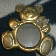 Baby Picture Frame Teddy Bear-Gold, Metal, 5X5, Free Shipping