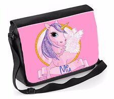 PERSONALIZZATO SCUOLA/College/GRANDE Laptop Bag AGGIUNGE UN NOME Unicorn
