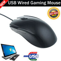 WIRED USB OPTICAL MOUSE GAMING MOUSE MICE FOR PC LAPTOP COMPUTER SCROLL WHEEL UK