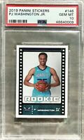 2019-20 Panini Stickers PJ Washington Jr. Rookie RC PSA 10 GEM MINT Hornets 🔥📈