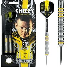 Harrows Chizzy 80% Darts Set 21g 22g 23g 24g 25g 26g gram Tungsten Dave Chisnall