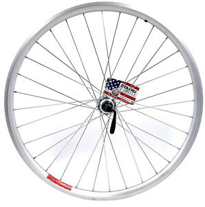 """26"""" Rear Doublewall Silver Mountain Bike Wheel / Shimano Cassette Hub 8 9 10"""