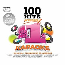UK NO.1'S KARAOKE + ON SCREEN LYRICS NEW 5 CD G 100 SONGS FOR KARAOKE MACHINES