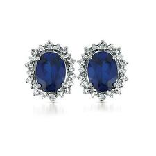 Lady Diana Inspired 3.40cttw Oval-cut Faceted Created Blue Sapphire w/ Prong Set