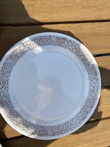 Vintage Corelle White Woodland Brown Plates