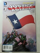 JUSTICE LEAGUE OF AMERICA #1 (2013) TEXAS STATE FLAG VARIANT COVER! DAVID FINCH