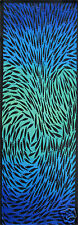240cm x 80cm ABORIGINAL  Art painting  FISH  seascape AQUA BLUE commission