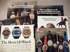 Bulova Watch PRINT AD - 1972 ~~ LOT of 7 diff. ads ~ Accutron, wristwatch