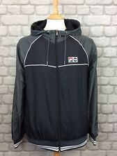 FILA MENS UK XL BLACK AND GREY TRACK JACKET CASUAL DESIGNER HOODED