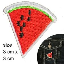 Juicy Watermelon Iron on patch - water melon fruit pit summer embroidery patches