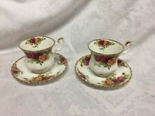 Royal Albert Old Country Roses Two Coffee Cups And Saucers